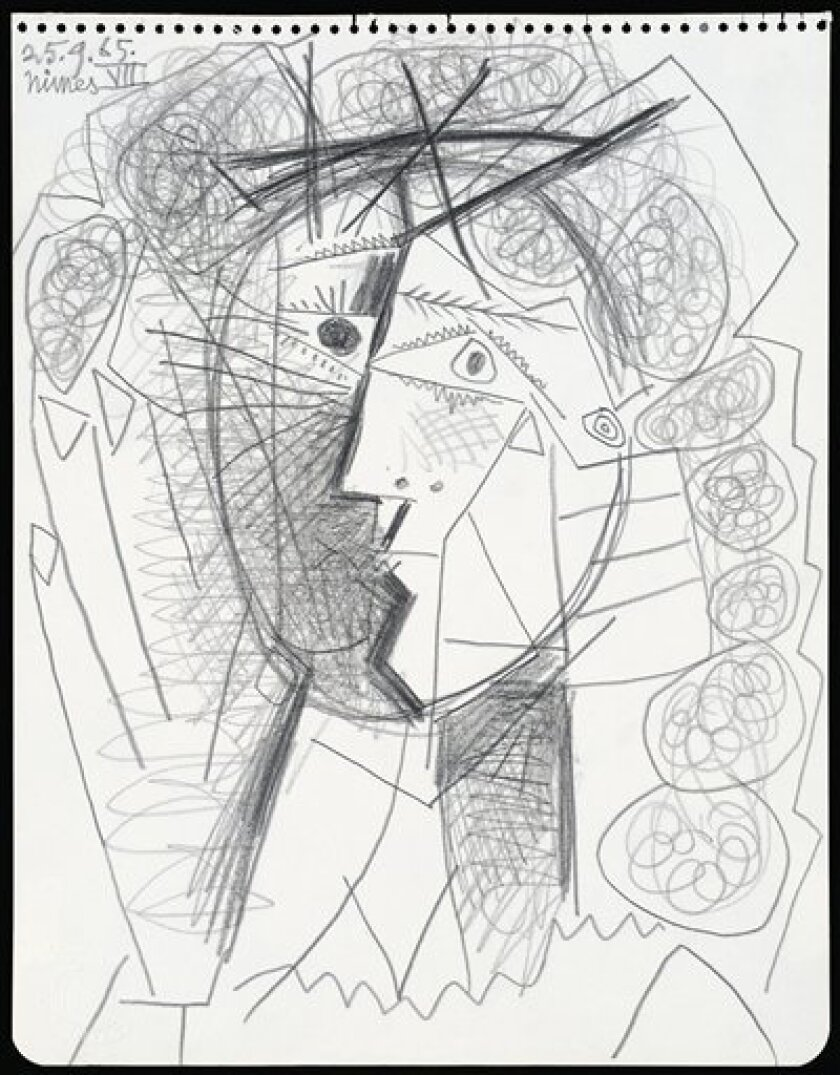 "This undated photo provided by the Weinstein Gallery in San Francisco shows Pablo Picasso's ""Tete de Femme."" Police say the pencil drawing, worth hundreds of thousands of dollars, was taken from the gallery near Union Square by a man who walked in, grabbed the drawing, and then fled in a waiting taxicab Tuesday, July 5, 2011. (AP Photo/Weinstein Gallery)"