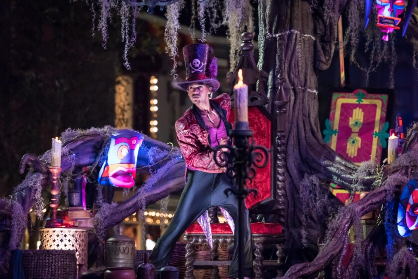 """Frightfully Fun Parade"" during Oogie Boogie Bash at Disney California Adventure Park"