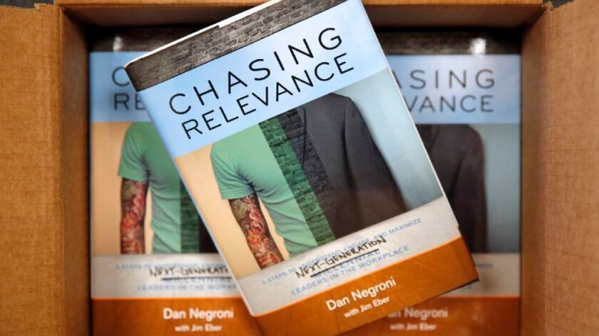 """Dan Negroni, author of """"Chasing Relevance,"""" which examines how to bridge generation gaps in the workplace, says polls show that millennials are loyal to managers who care and teach them skills."""