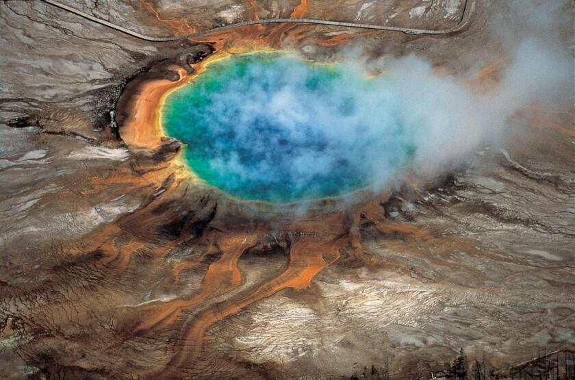 Yellowstone geothermal supervolcano