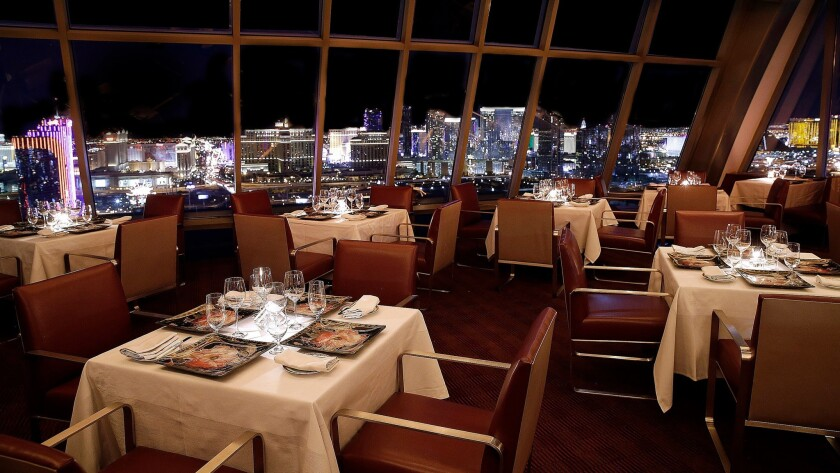 With its primo setting atop the Palms resort, Alizé will  provide late-evening diners with a six-course meal, entertainment and  spectacular views of the fireworks along the nearby Strip.