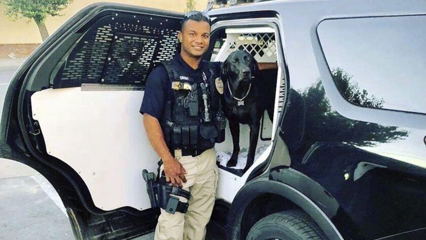 Cpl. Ronil Singh was on duty with his canine partner, Sam, when he was shot and killed Wednesday.