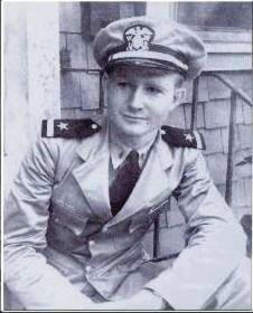 Battle of Midway honoree Geoffrey Blackman.