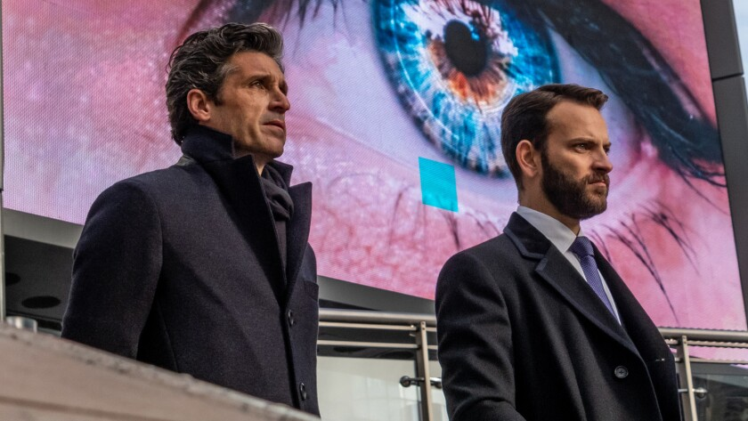 "Patrick Dempsey and Alessandro Borghi in ""Devils"" on the CW."