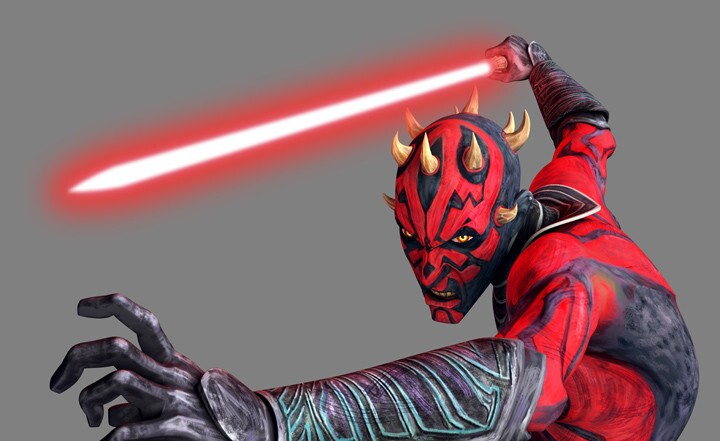 """Here's how Darth Maul will appear in """"Star Wars: The Clone Wars"""" in spring 2012."""