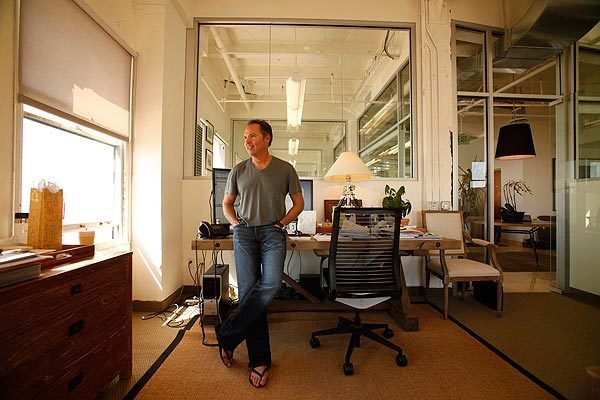 Steve Hansen, president of TrueCar, in the company's headquarters in Santa Monica's Clock Tower building. Standard office space can make creative thinkers feel constrained, he says.