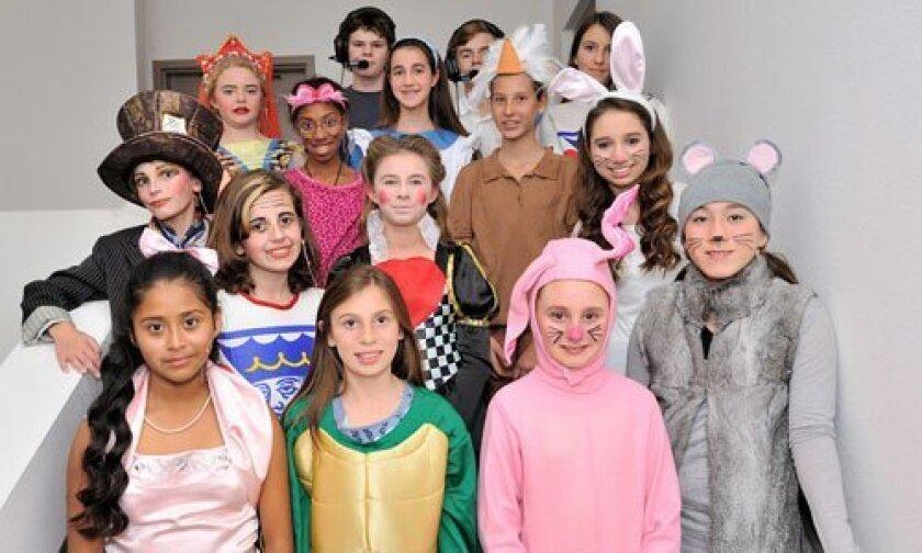 The 'Alice in Wonderland' cast