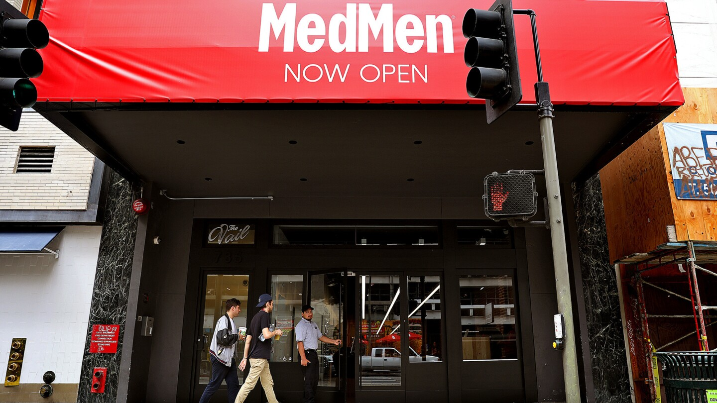 Cannabis is sold at MedMen dispenary in downtown Los Angeles on March 13.