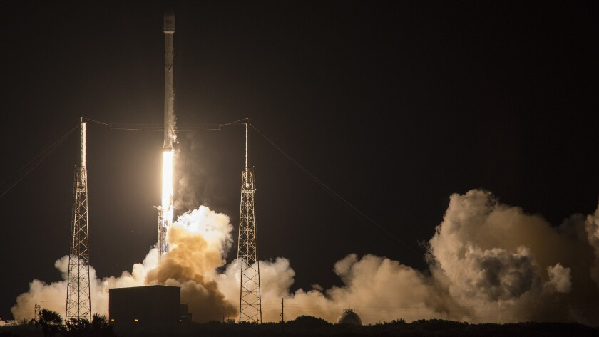 SpaceX's Falcon 9 rocket was launched at 10:21 p.m. PST from Cape Canaveral Air Force Station in Florida.