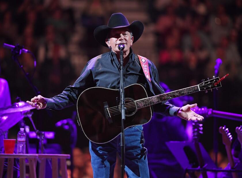 George Strait performing last month in Las Vegas.
