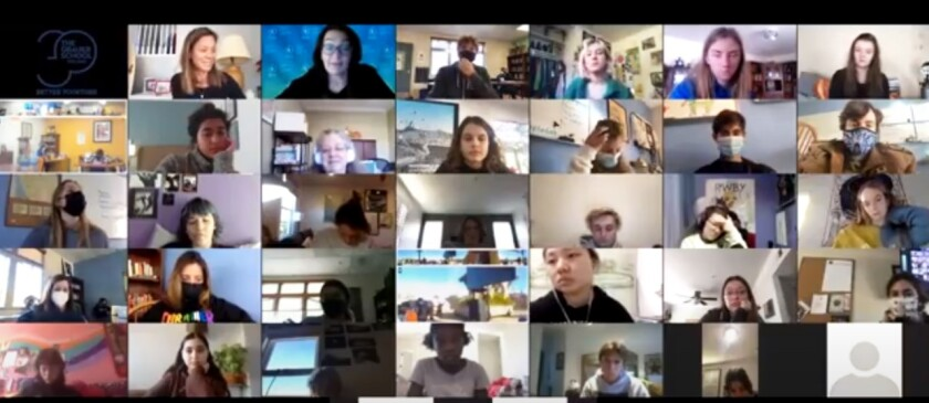 Grauer students Zoom with Mirjam Jaring