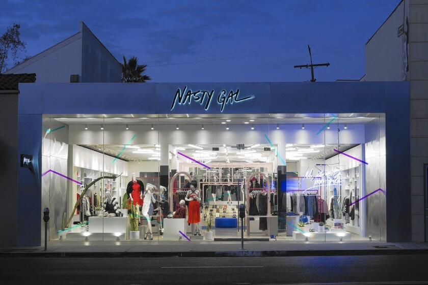 Sophia Amoruso brings a Nasty Girl store to Melrose Avenue after touring for her book tour, dressing Lena Dunham and becoming the talk of the young fashion world.