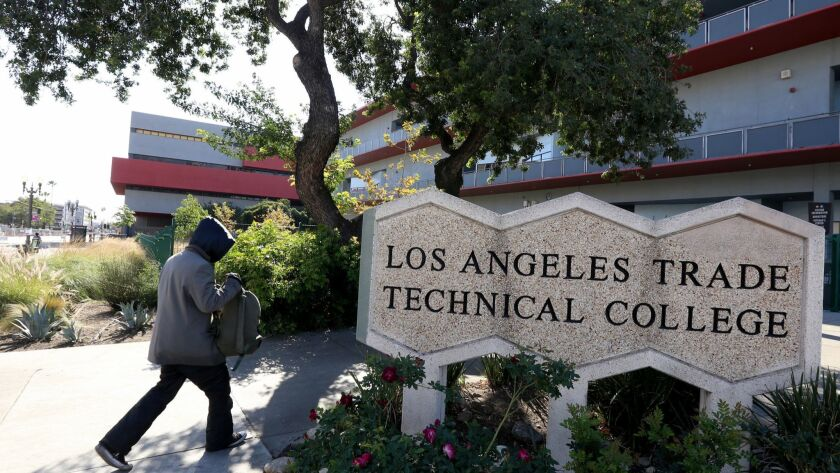 Two administrators with Los Angeles Trade-Technical College received more than $157,000 in federal grant payments but failed to prove the work they did for it was outside their regular college duties, an L.A. Community College District investigation found.
