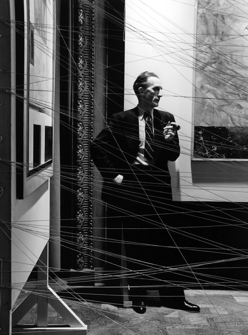 """*****ONE TIME USE***** """"Marcel Duchamp, NYC, 1942."""" Credit: Arnold Newman/Fahey/Klein Gallery A"""