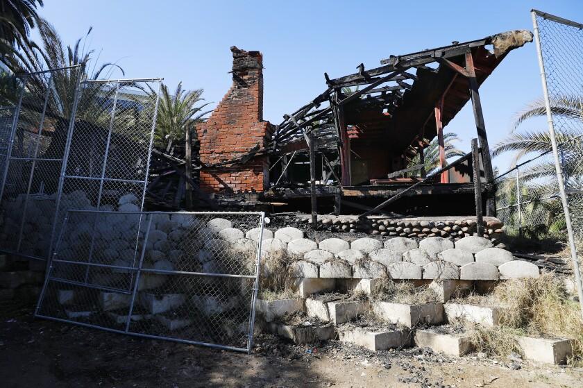 Red Rest cottage burned down in October. The adjacent Red Roost was damaged.