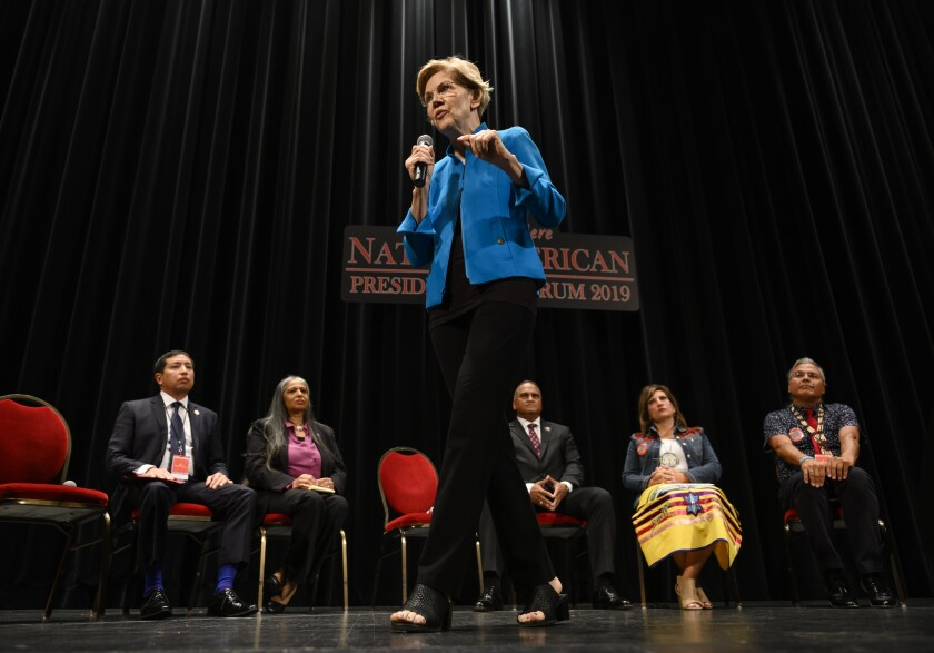 """Like anyone who has been honest with themselves, I know I have made mistakes,"" Sen. Elizabeth Warren (D-Mass.) said at a forum on Native American issues. ""I am sorry for the harm I have caused."""