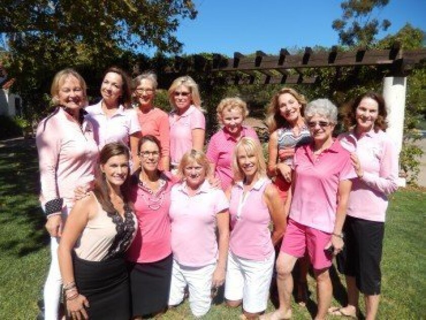 Members of the RSF Golf Club are: back row, Susie Ault, Cindy Bligh, Joan Flowers, Michele Homan, Dolores Crawford, Rhonda Wilson, Kathy McElhinney. Front row, Mindy Cagen, Deana Ingalls, Madeline Javelet, Debbie Chapparone, Gail Kendall.