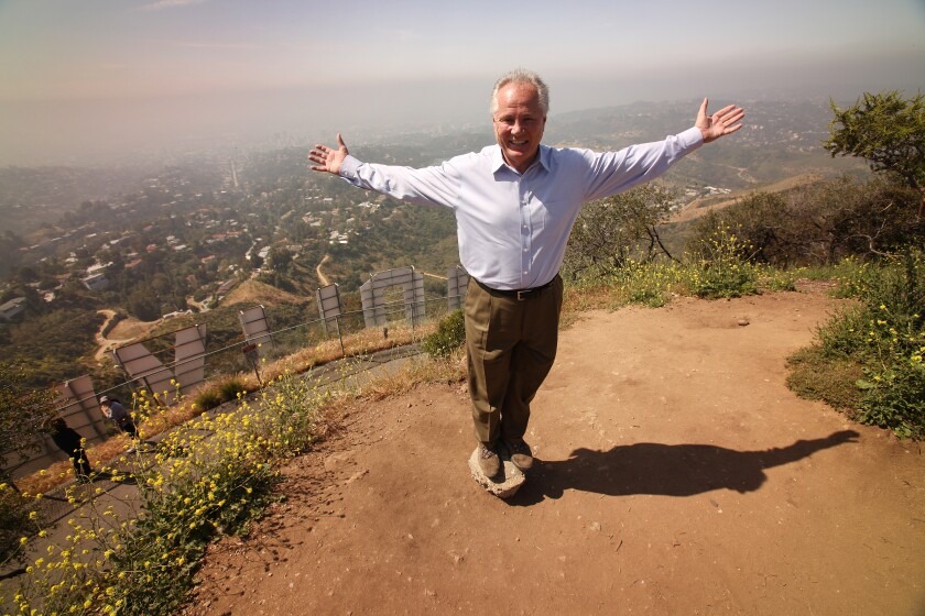Tom LaBonge near the top of Mt. Lee above the Hollywood sign