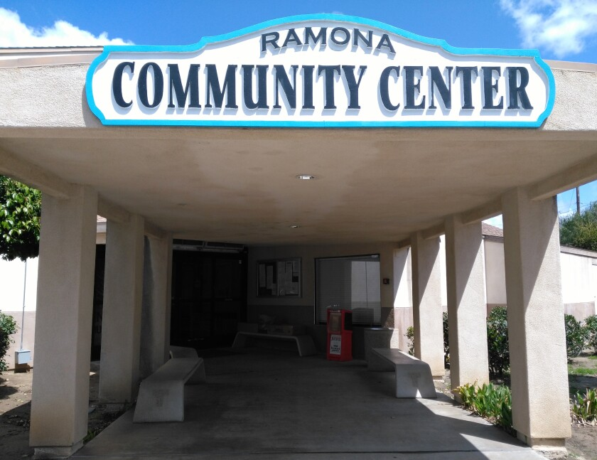 The Ramona Senior Center will offer in-person lunches in its dining room from 11:30 a.m. to 12:30 p.m. starting June 15.