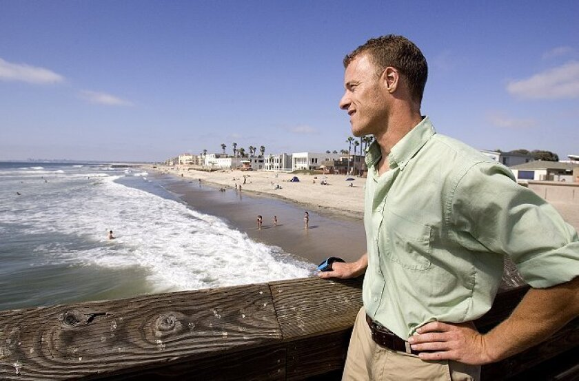 "Ben McCue, a surfer and coastal program manager for the nonprofit group Wildcoast in Imperial Beach, calls the search for an annoying on-again, of-again scent ""almost a reverse investigation."""