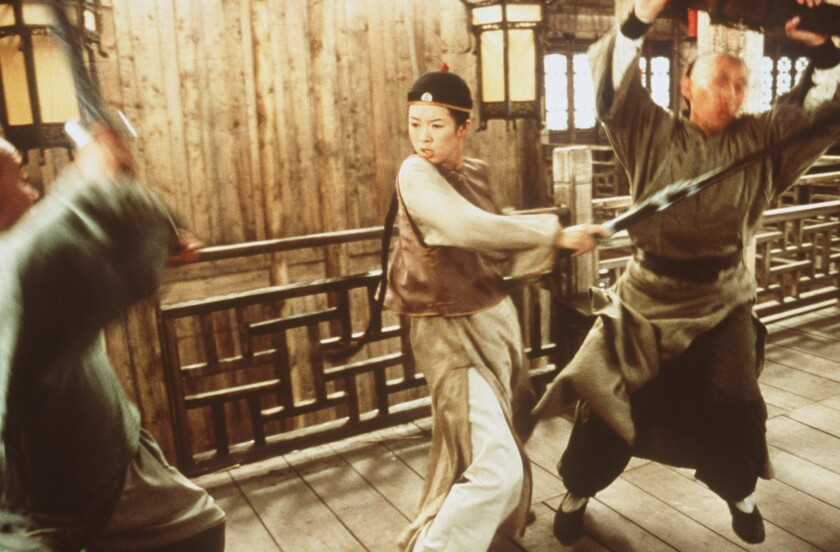 "A scene from ""Crouching Tiger, Hidden Dragon"" with Zhang Ziyi."
