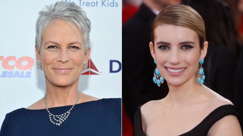 Jamie Lee Curtis and Emma Roberts sign on to Fox's 'Scream Queens'