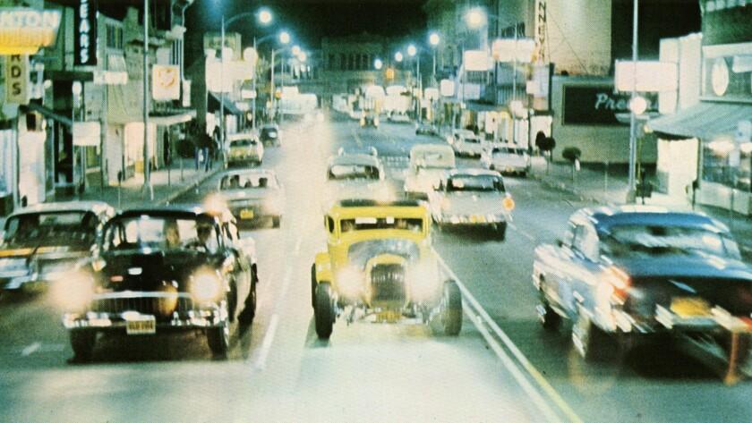 "A scene from the 1973 movie ""American Graffiti."""