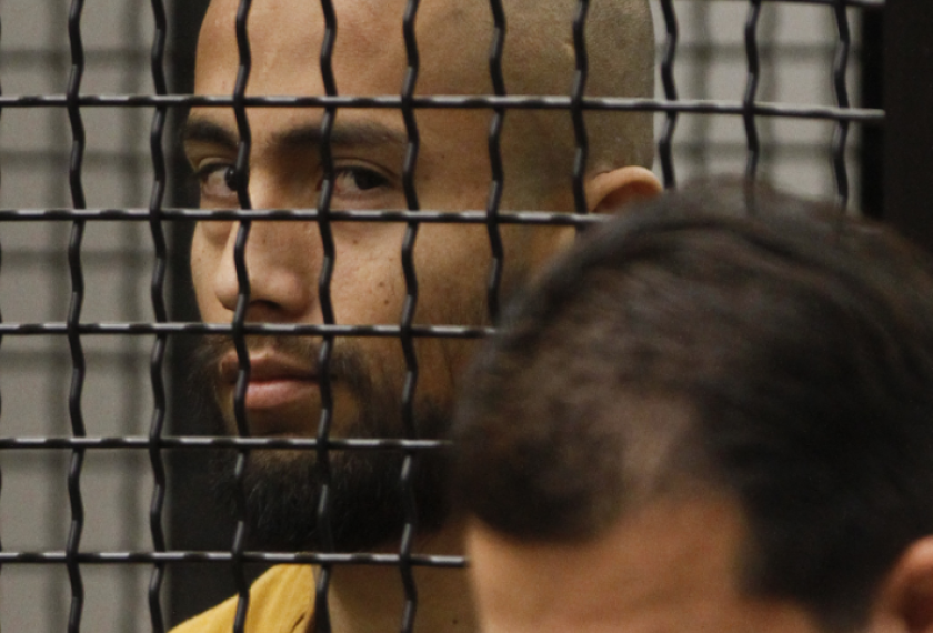 "Itzcoatl ""Izzy"" Ocampo at his arraignment in 2012. Ocampo committed suicide while in an Orange County jail."