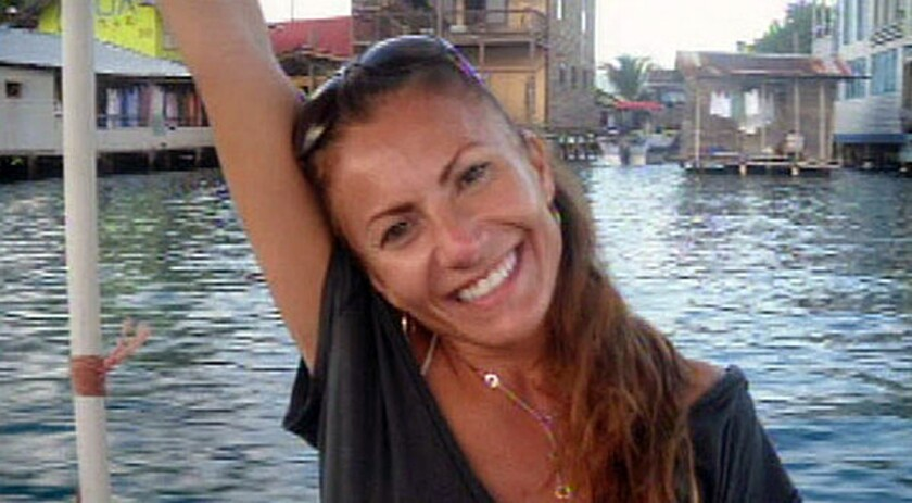 Yvonne Baldelli in Panama, where she had gone to live with a boyfriend, Brian Brimager. He is accused of killing her.