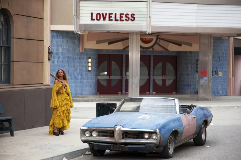 """Beyonce on the set of """"Lemonade."""""""