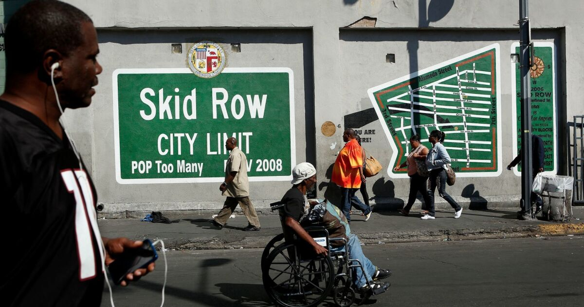 www.latimes.com: Column: Black people make up 8% of L.A. population and 34% of its homeless. That's unacceptable