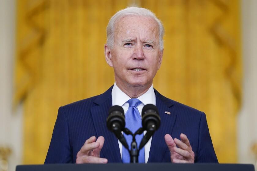 El presidente estadounidense Joe Biden en la Casa Blanca en Washington el 16 de septiembre del 2021. (Foto AP/Evan Vucci, File)
