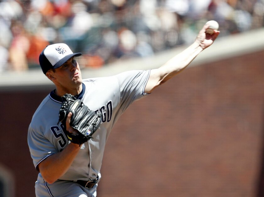 Left-hander Clayton Richard recorded the win as the Padres opened a stretch of games against San Francisco with a 5-3 victory over the Giants.