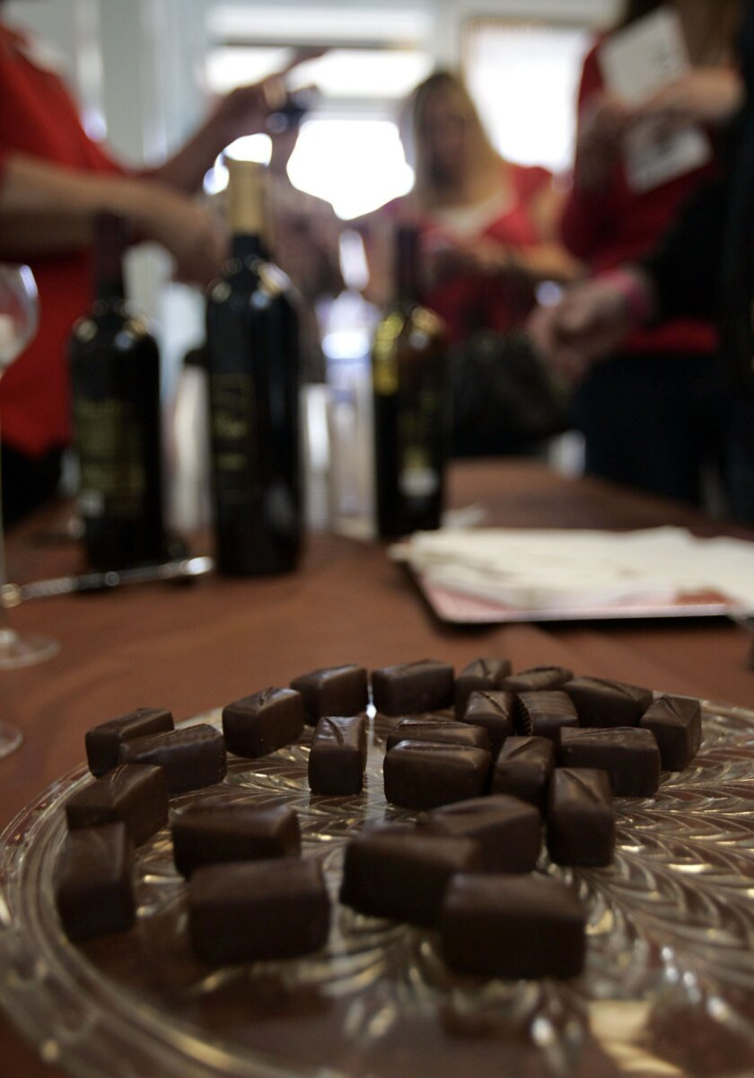 Michael Antonorsi, chef and co-owner of Chuao Chocolatier, brought his wares to the For the Love of Chocolate and SweetArt Festival.