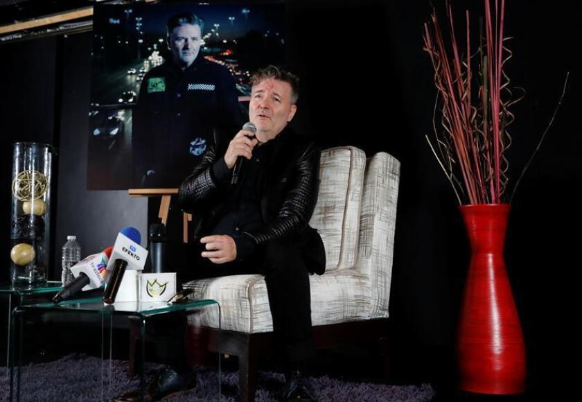 """El cantante argentino Miguel Mateos durante una conferencia de prensa hoy, lunes 18 de junio de 2018, donde informó de su gira """" Solos en América"""", en la capital mexicana. EFE"""