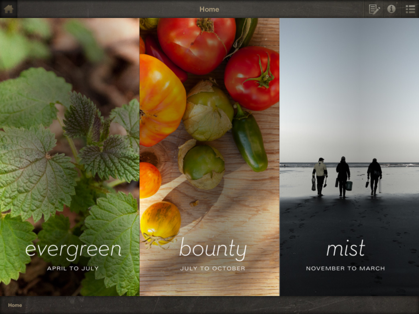 """An image from the """"Lark: Cooking Against the Grain"""" iPad app (and cookbook) from Seattle's John Sundstrom."""