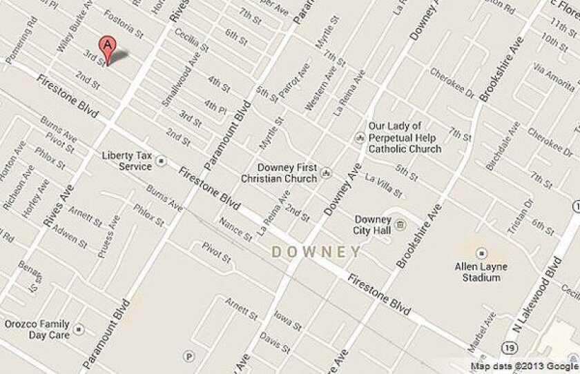 Arson team investigates early-morning fire at vacant Downey home