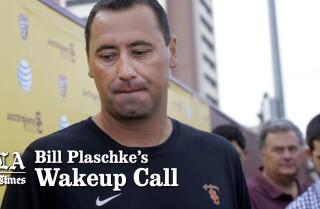 Bill Plaschke's Wakeup Call: USC is stuck between a rock and a hard place