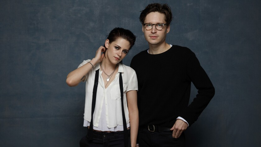 """Director Kristen Stewart and actor Josh Kaye with the film """"Come Swim."""""""