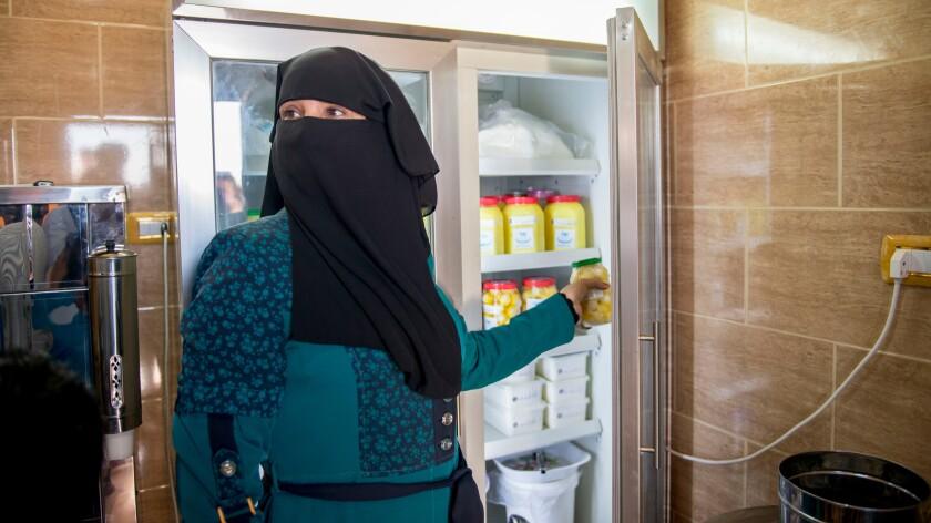 Zainab Khazaleh has started a business producing drinkable yogurt, cheese and homemade fig jam.