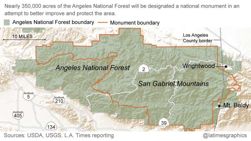 New designation in Angeles National Forest