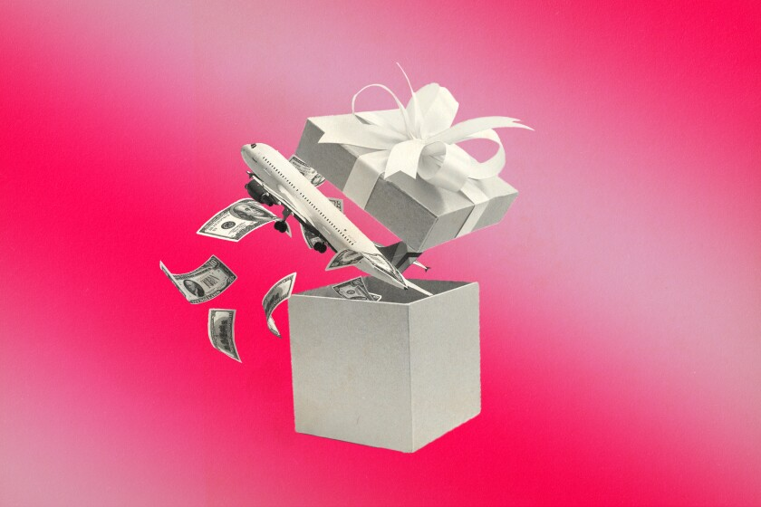 The gift of saving on airfare.