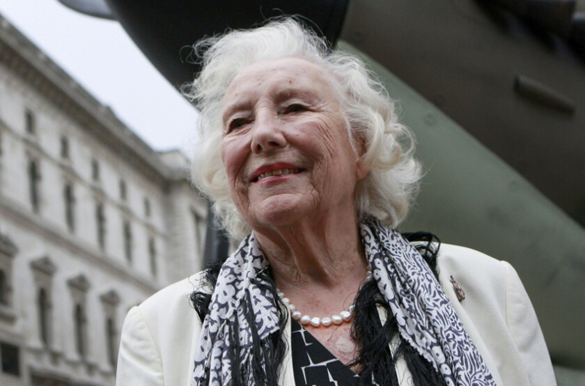 Vera Lynn attends a ceremony to mark the 70th anniversary of the Battle of Britain in 2010.