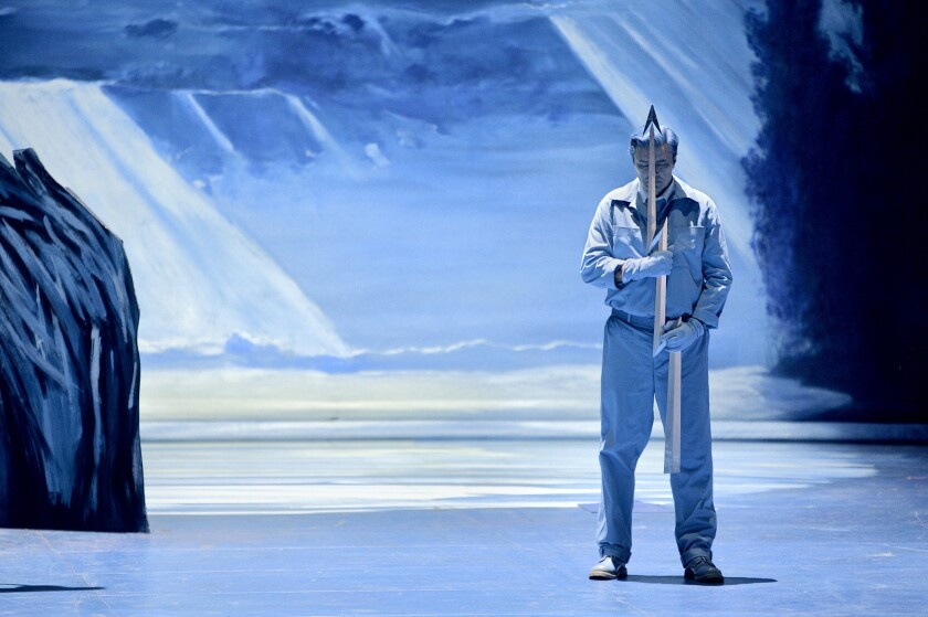Klaus Florian Vogt as Lohengrin at the Bayreuth Festival in Germany.