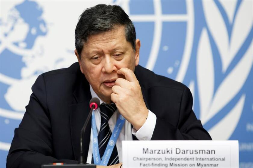 Marzuki Darusman, chairperson of the Independent International Fact-finding Mission on Myanmar. EFE/EPA/FILE