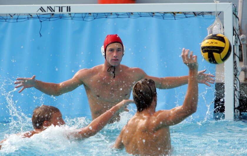 Carlsbad High goalie Peter O'Laughlin works out with his team Wednesday.