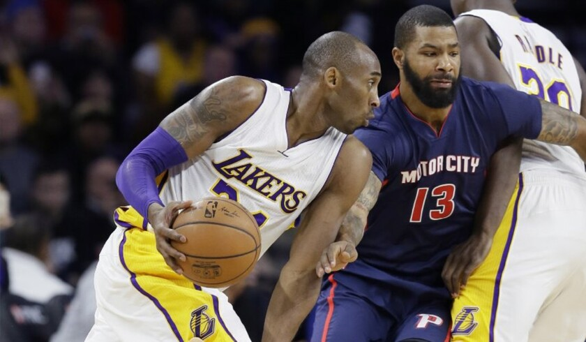 Pistons score first 15 points, blowout Lakers by 20