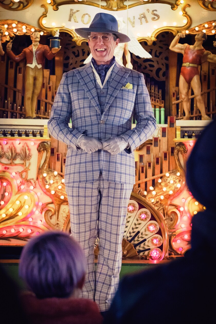 "HUGH GRANT as Phoenix Buchanan in the family adventure ""PADDINGTON 2,"" from Warner Bros. Pictures an"