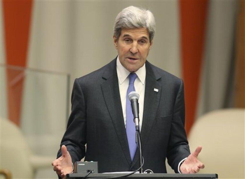El secretario de Estado de Estados Unidos, John Kerry, interviene en la cumbre de Naciones Unidas sobre Refugiados y Migrantes, en la sede de la ONU, el 19 de septiembre de 2016, el multimillonario, Soros invertirá una fuerte suma para ayudarlos.