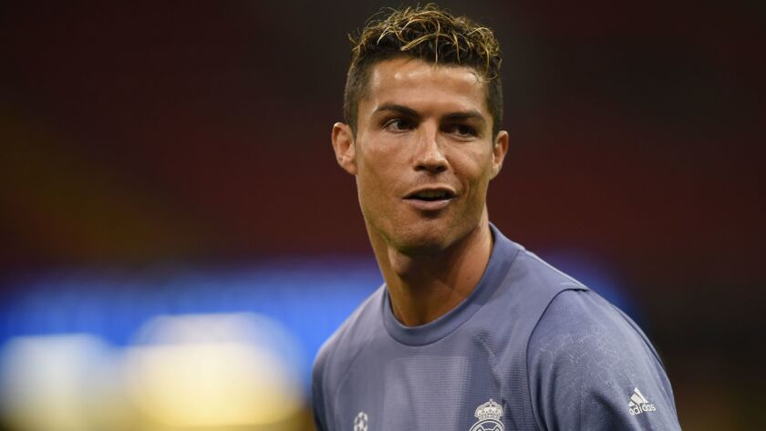 (FILES) This file photo taken on June 02, 2017 shows Real Madrid's Portuguese striker Cristiano Ron
